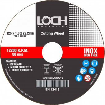 LOCH 125mm x 2.5mm Inox Cutting Disc