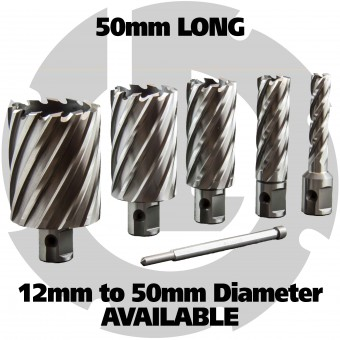 50mm Long HSS Annular Cutters