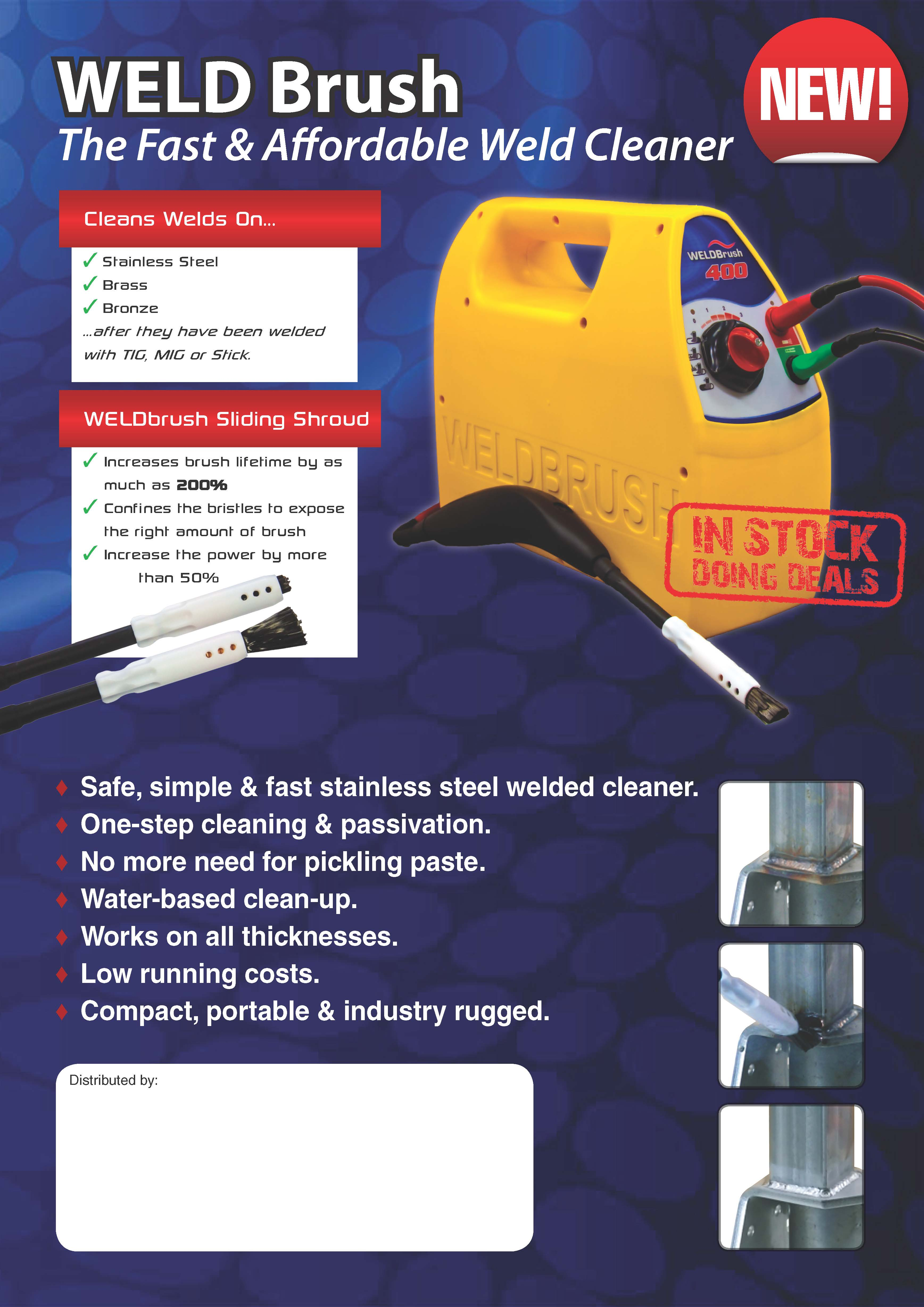 weld cleaner machine
